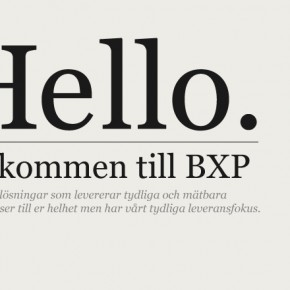 BXP fokuserar på aktiveringen!