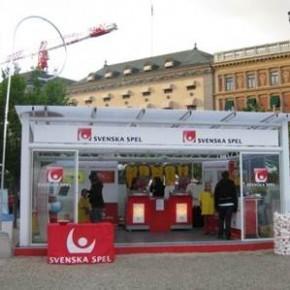 Svenska spel tillfällig spelbutik i Kungsträdgården